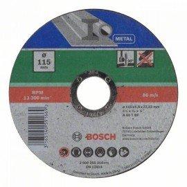 Bosch Egyenes darabolótárcsa, fém D= 115 mm; Vastagság= 1,6 mm