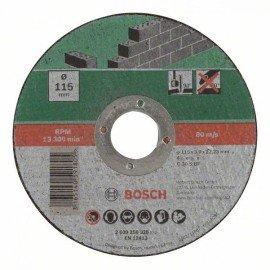 Bosch Egyenes darabolótárcsa, kő D= 115 mm