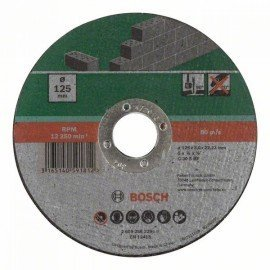 Bosch Egyenes darabolótárcsa, kő D= 125 mm