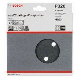 Bosch F355 csiszolólap, 5-ös csomag 150 mm, 320