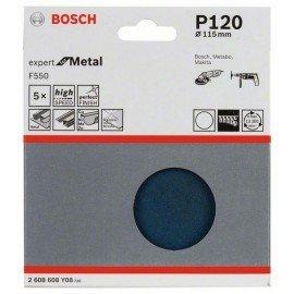 Bosch F550 csiszolólap, 5-ös csomag 115 mm, 120