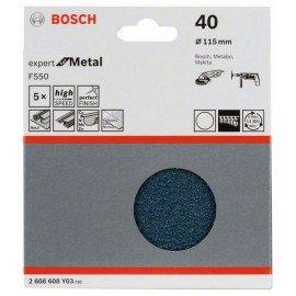 Bosch F550 csiszolólap, 5-ös csomag 115 mm, 40