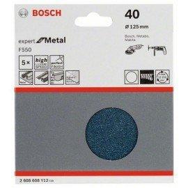 Bosch F550 csiszolólap, 5-ös csomag 125 mm, 40