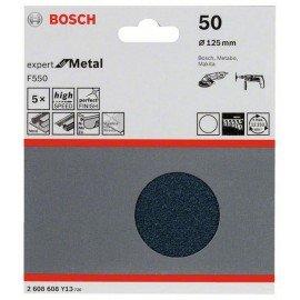 Bosch F550 csiszolólap, 5-ös csomag 125 mm, 50