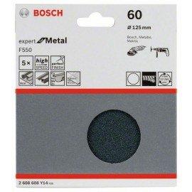 Bosch F550 csiszolólap, 5-ös csomag 125 mm, 60