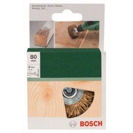 Bosch Faszerkezet-kefe fúrógépekhez – hullámos drót, sárgaréz bevonatú, 80 mm Átmérő = 80 mm