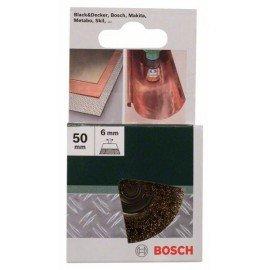 Bosch Fazékkefe fúrógépekhez - hullámos drót, sárgaréz bevonatú, 50 mm Átmérő = 50 mm