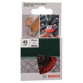 Bosch Fazékkefék fúrógépekhez – nejlonhuzal 80-as szemcseméretű korund csiszolóanyaggal, 50 mm Átmérő = 50 mm