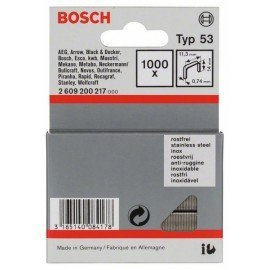 Bosch Finomhuzal-kapocs, típus: 53, rozsdamentes 53-as típus; L= 14 mm