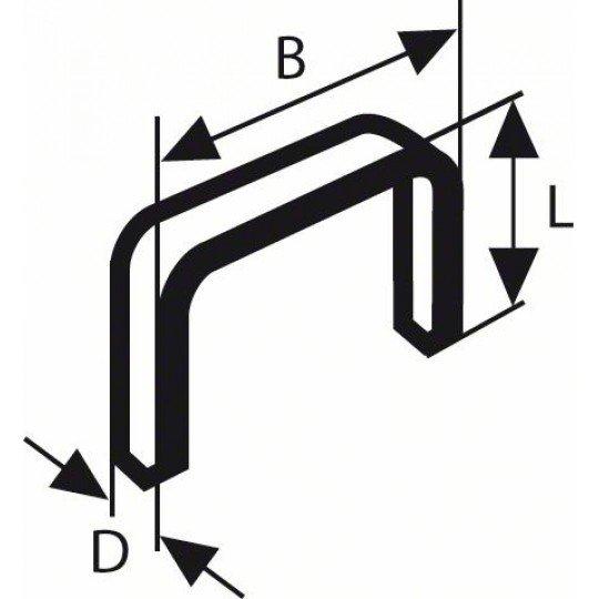 Bosch Finomhuzal-kapocs, típus: 53, rozsdamentes 53-as típus; L= 6 mm