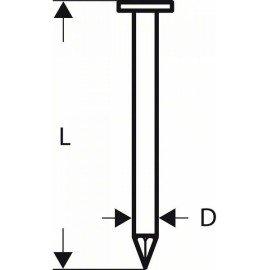 Bosch Gömbölyűfejű szalagszeg, SN21RK 90G 3,1 mm, 90 mm, horganyzott, sima