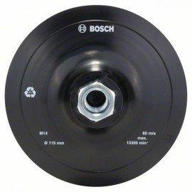 Bosch Gumi csiszolótányér sarokcsiszolóhoz, tépőzáras rendszer, 115 mm D= 115 mm