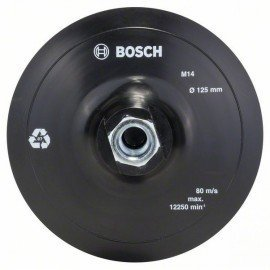 Bosch Gumi csiszolótányér sarokcsiszolóhoz, tépőzáras rendszer, 125 mm D= 125 mm