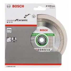 Bosch Gyémánt darabolótárcsa, Standard for Ceramic kivitel 110 x 22,23 x 1,6 x 7,5 mm