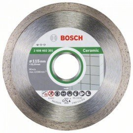 Bosch Gyémánt darabolótárcsa, Standard for Ceramic kivitel 115 x 22,23 x 1,6 x 7 mm