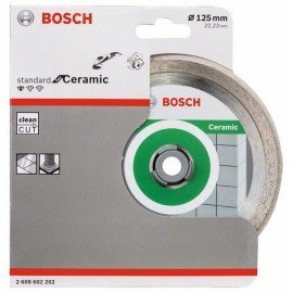 Bosch Gyémánt darabolótárcsa, Standard for Ceramic kivitel 125 x 22,23 x 1,6 x 7 mm