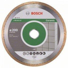 Bosch Gyémánt darabolótárcsa, Standard for Ceramic kivitel 200 x 25,40 x 1,6 x 7 mm
