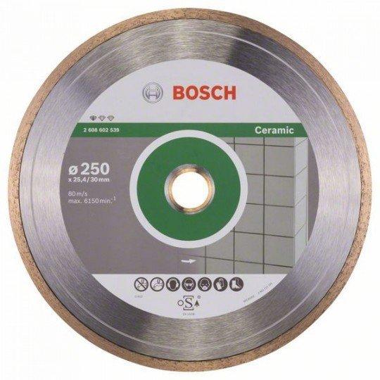 Bosch Gyémánt darabolótárcsa, Standard for Ceramic kivitel 250 x 30+25,40 x 1,6 x 7 mm