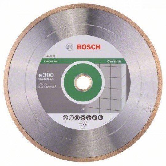 Bosch Gyémánt darabolótárcsa, Standard for Ceramic kivitel 300 x 30+25,40 x 2 x 7 mm