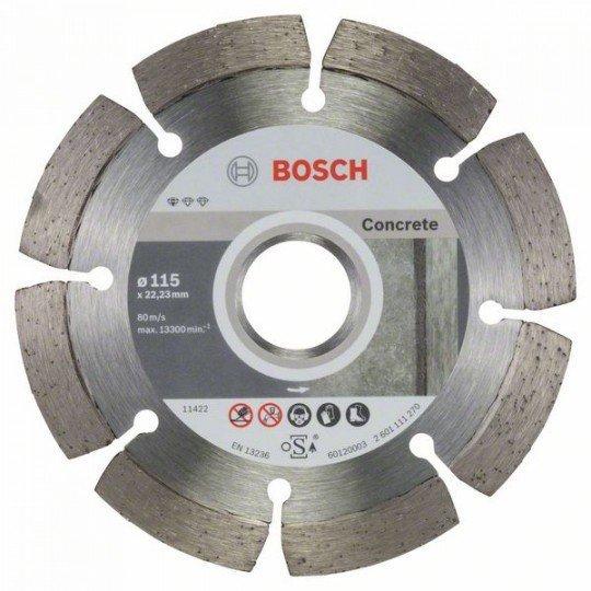 Bosch Gyémánt darabolótárcsa, Standard for Concrete kivitel 115 x 22,23 x 1,6 x 10 mm