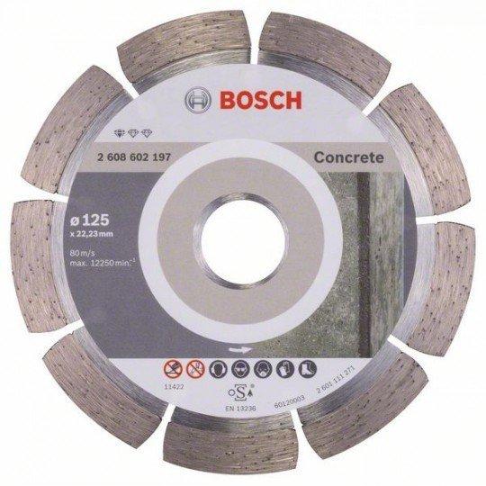Bosch Gyémánt darabolótárcsa, Standard for Concrete kivitel 125 x 22,23 x 1,6 x 10 mm