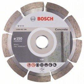 Bosch Gyémánt darabolótárcsa, Standard for Concrete kivitel 150 x 22,23 x 2 x 10 mm