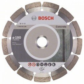 Bosch Gyémánt darabolótárcsa, Standard for Concrete kivitel 180 x 22,23 x 2 x 10 mm