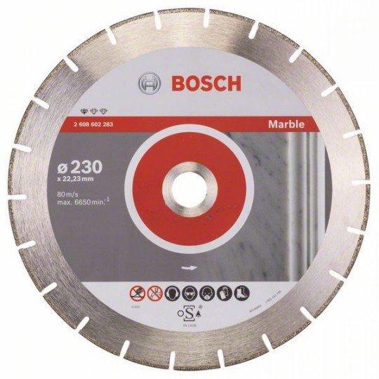 Bosch Gyémánt darabolótárcsa, Standard for Marble kivitel 230 x 22,23 x 2,8 x 3 mm