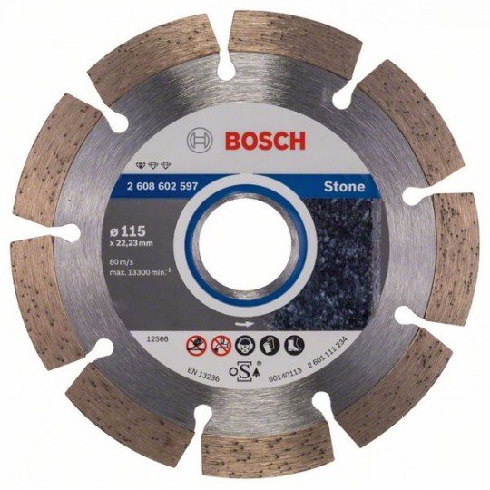 Bosch Gyémánt darabolótárcsa, Standard for Stone kivitel 115 x 22,23 x 1,6 x 10 mm