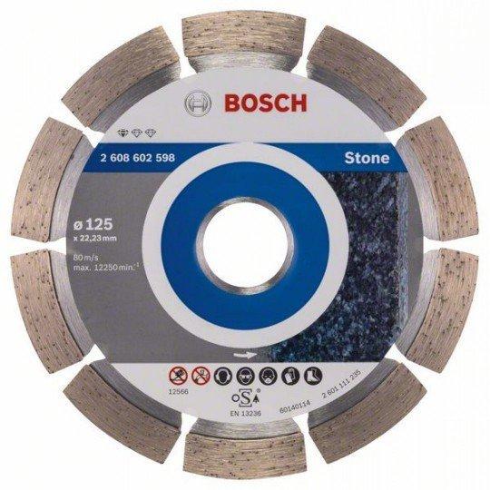 Bosch Gyémánt darabolótárcsa, Standard for Stone kivitel 125 x 22,23 x 1,6 x 10 mm