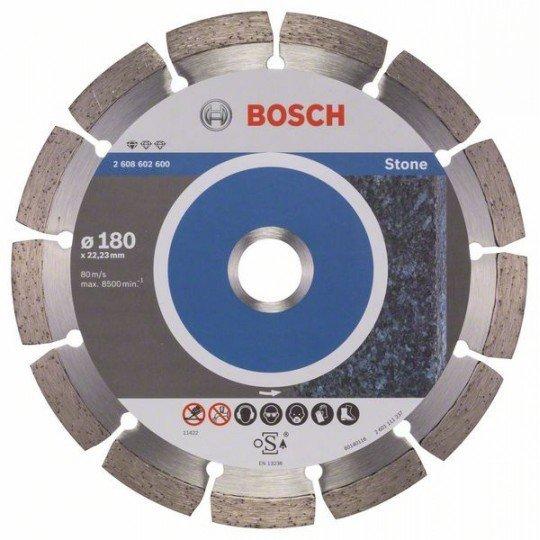 Bosch Gyémánt darabolótárcsa, Standard for Stone kivitel 180 x 22,23 x 2 x 10 mm