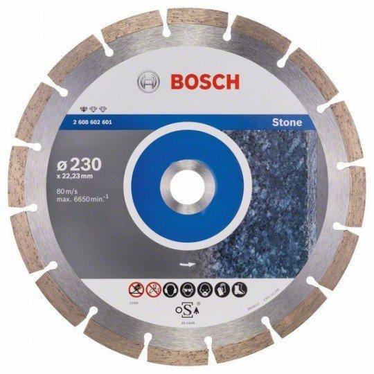 Bosch Gyémánt darabolótárcsa, Standard for Stone kivitel 230 x 22,23 x 2,3 x 10 mm