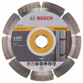 Bosch Gyémánt darabolótárcsa, Standard for Universal kivitel 150 x 22,23 x 2 x 10 mm
