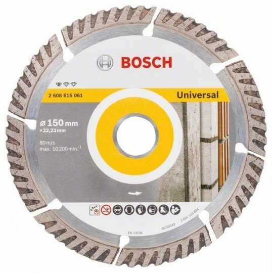 Bosch Gyémánt darabolótárcsa, Standard for Universal kivitel, 150x22,23 150x22.23x2.4x10mm