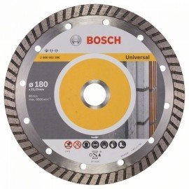 Bosch Gyémánt darabolótárcsa, Standard for Universal Turbo kivitel 180 x 22,23 x 2,5 x 10 mm