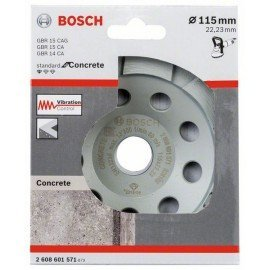 Bosch Gyémánt fazékkorong, Standard for Concrete kivitel 115x22,23x3