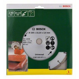 Bosch Gyémánt vágótárcsa építőanyagokhoz, Ø 230 mm