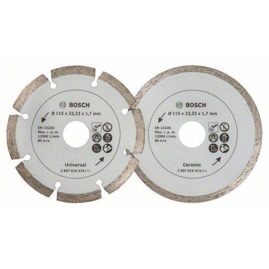 Bosch Gyémánt vágótárcsák csempéhez és építőanyagokhoz, Ø 115 mm