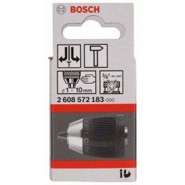 """Bosch Gyorsbefogó fúrótokmány, 10 mm-ig 1-10 mm, 3/8"""" - 24"""
