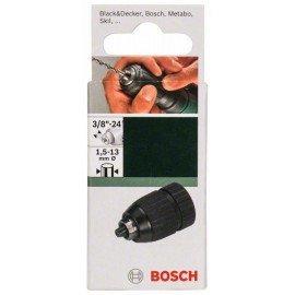 """Bosch Gyorsbefogó fúrótokmány, 13 mm-ig D= 1,5 - 13 mm; A= 3/8"""" - 24"""