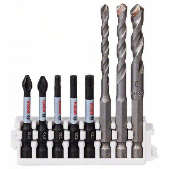 Bosch Hex-9 Ceramic 5,6,8 mm; Impact Power Bit 50 mm PH2, PZ2, T20, T25, T30