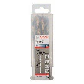 Bosch HSS-Co fémfúró, DIN 338 10,2 x 87 x 133 mm