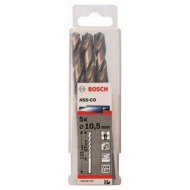 Bosch HSS-Co fémfúró, DIN 338 10,5 x 87 x 133 mm