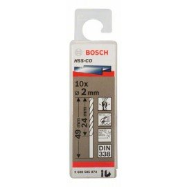 Bosch HSS-Co fémfúró, DIN 338 2 x 24 x 49 mm