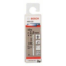 Bosch HSS-Co fémfúró, DIN 338 2,5 x 30 x 57 mm