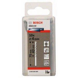 Bosch HSS-Co fémfúró, DIN 338 4 x 43 x 75 mm