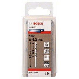 Bosch HSS-Co fémfúró, DIN 338 4,2 x 43 x 75 mm
