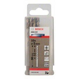 Bosch HSS-Co fémfúró, DIN 338 5 x 52 x 86 mm