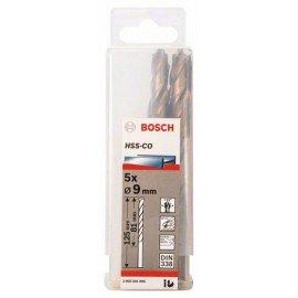 Bosch HSS-Co fémfúró, DIN 338 9 x 81 x 125 mm