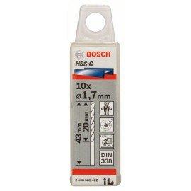 Bosch HSS-G fémfúró, DIN 338 1,7 x 20 x 43 mm